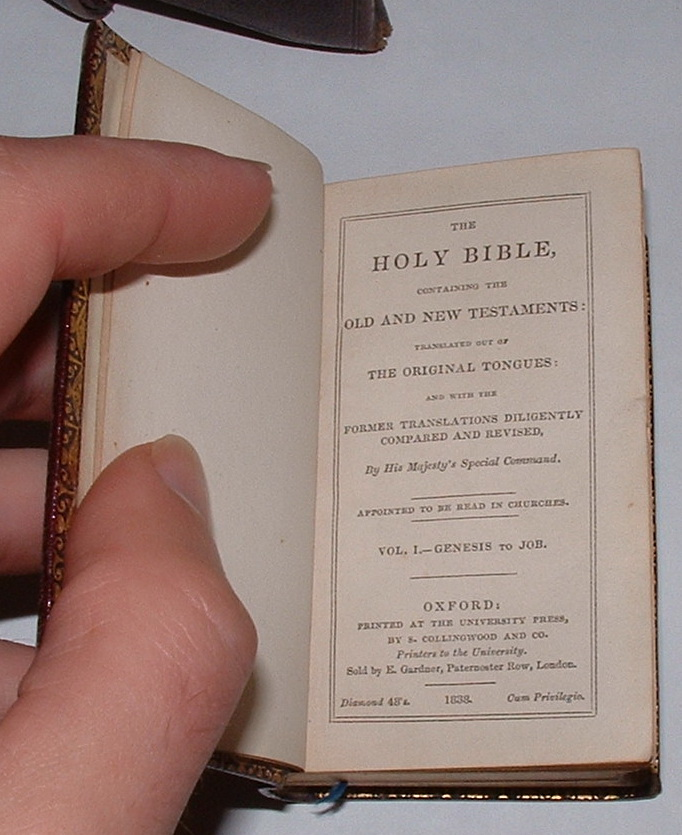 Image for The Holy Bible containing the Old and New Testaments: Translated out of the Original Tongues [Two volumes, complete]