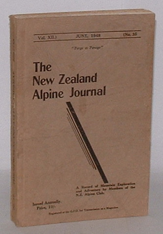 Image for The New Zealand Alpine Journal. June, 1948. Vol. XII. No. 35.