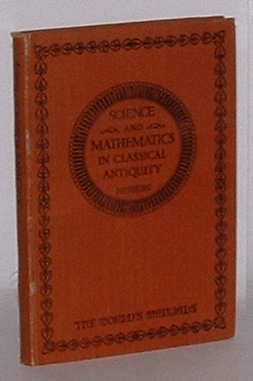 Image for Mathematics and Physical Science in Classical Antiquity