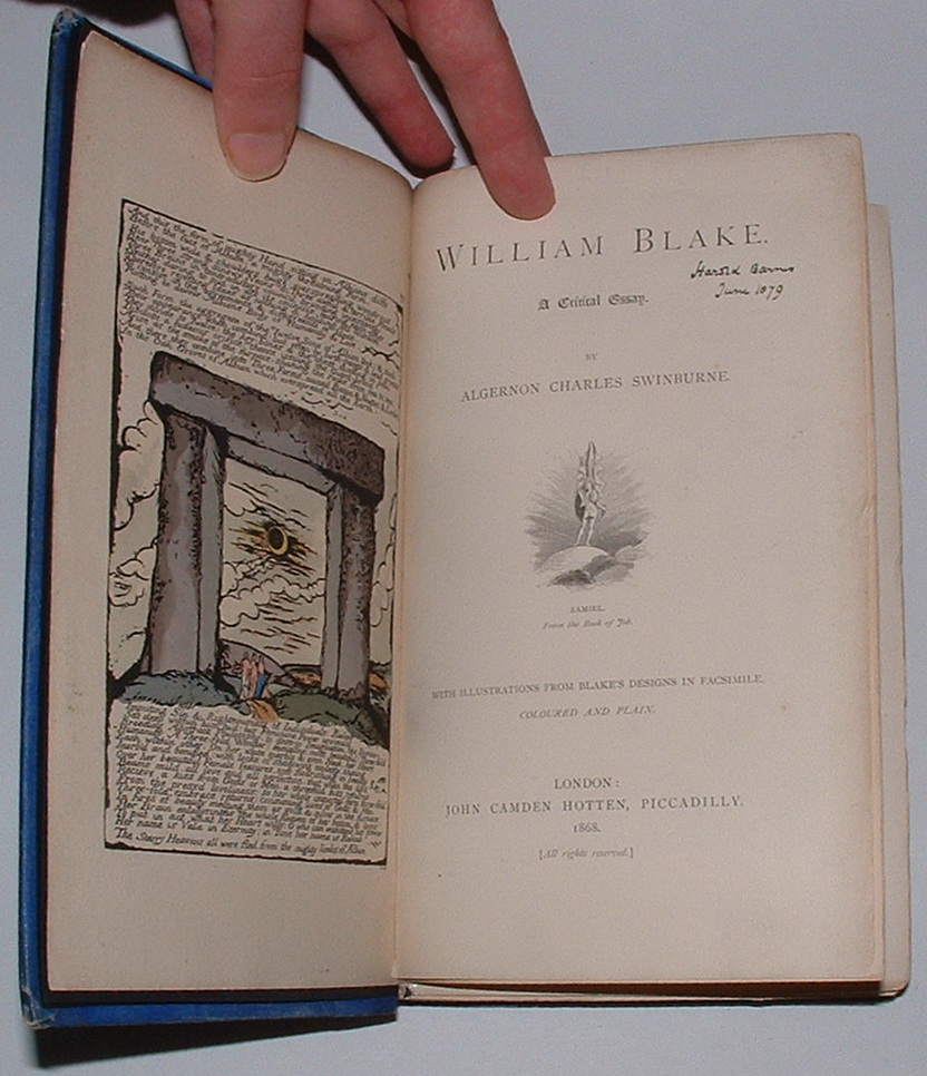 Image for William Blake. A Critical Essay.