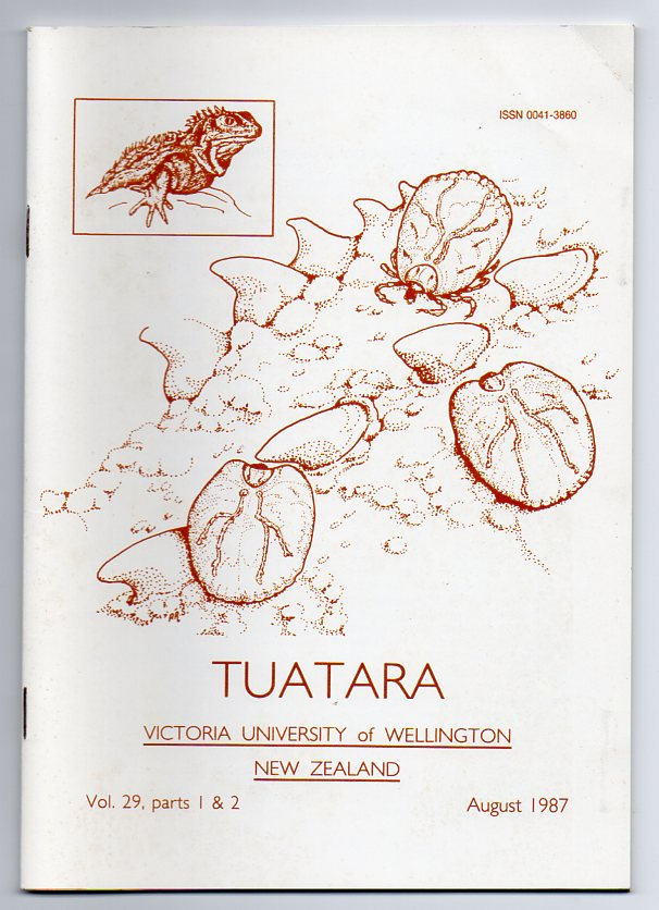 Image for Tuatara - Volume 29, Parts 1 & 2 - August 1987