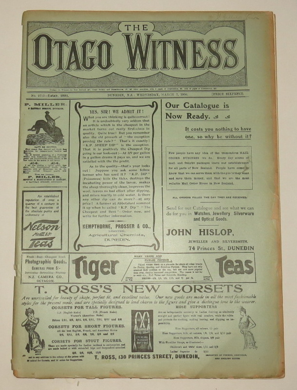 Image for The Otago Witness - Wednesday, March 7, 1906 - No. 2712. [Newspaper]