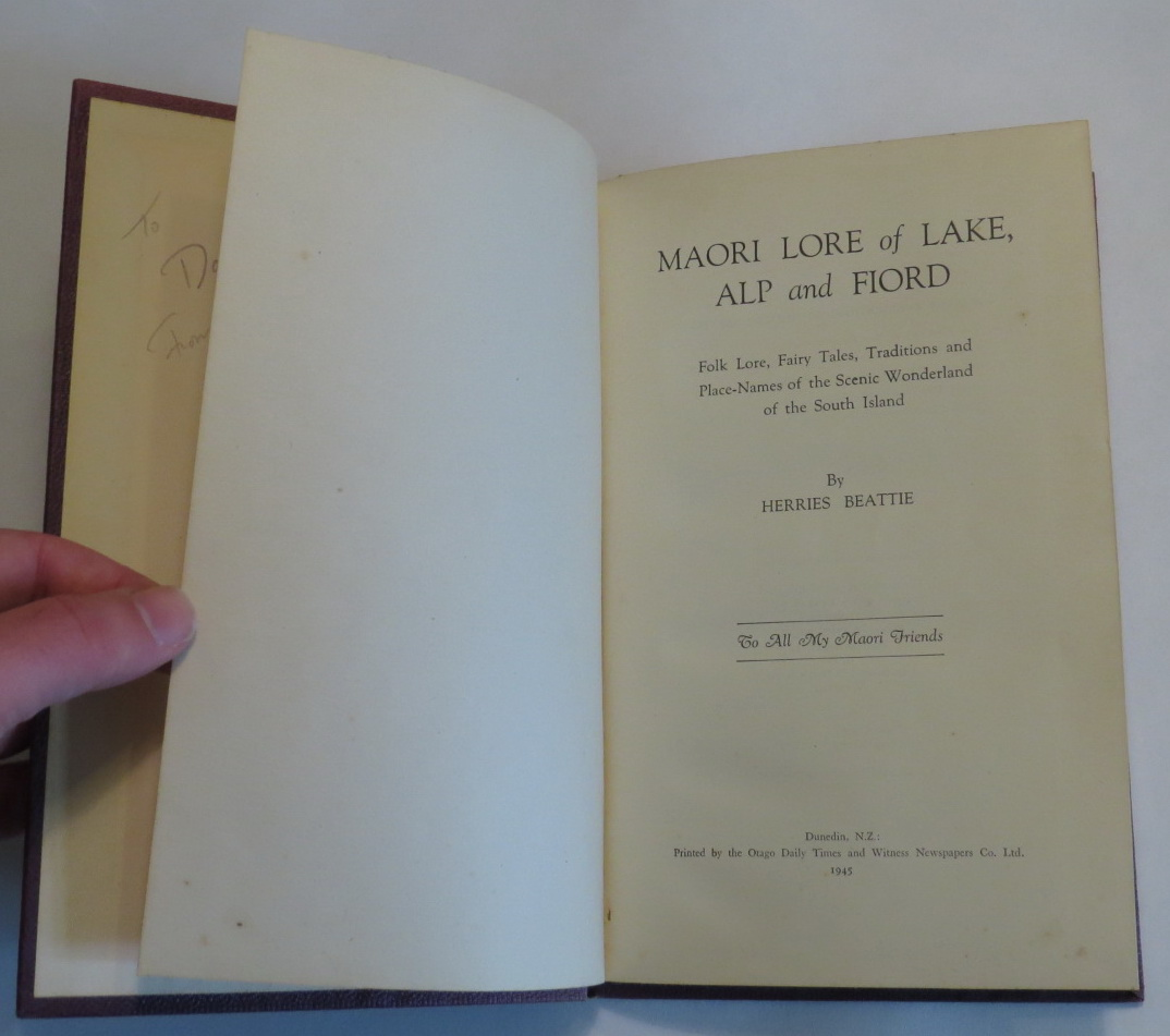 Image for Maori Lore of Lake, Alp and Fiord