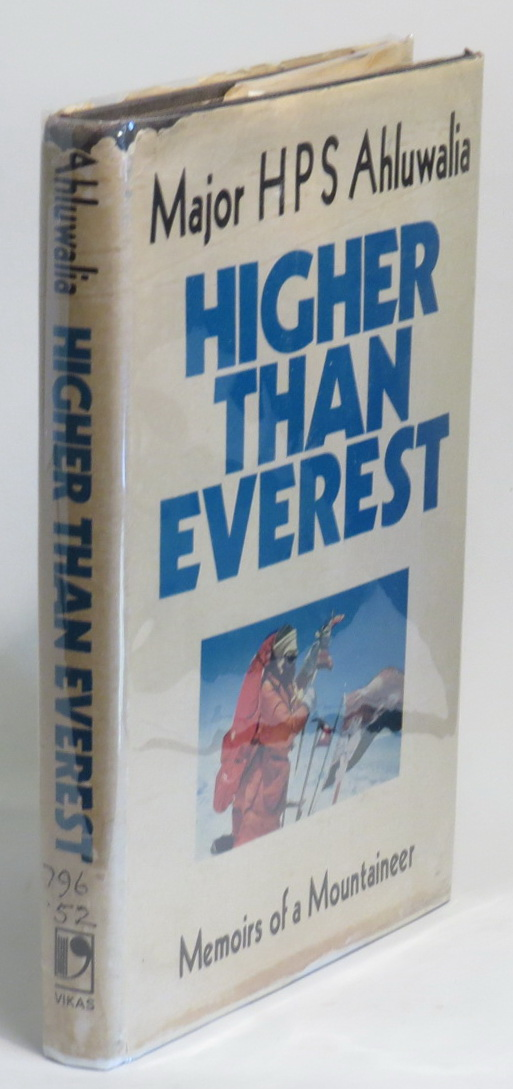 Image for Higher Than Everest: Memoirs of a Mountaineer.