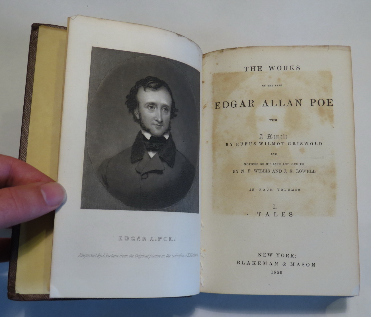 Image for The Works of the Late Edgar Allan Poe with A Memoir by Rufus Wilmot Griswold and Notices of his Life and Genius by N. P. Willis and J. R. Lowell - In Four Volumes