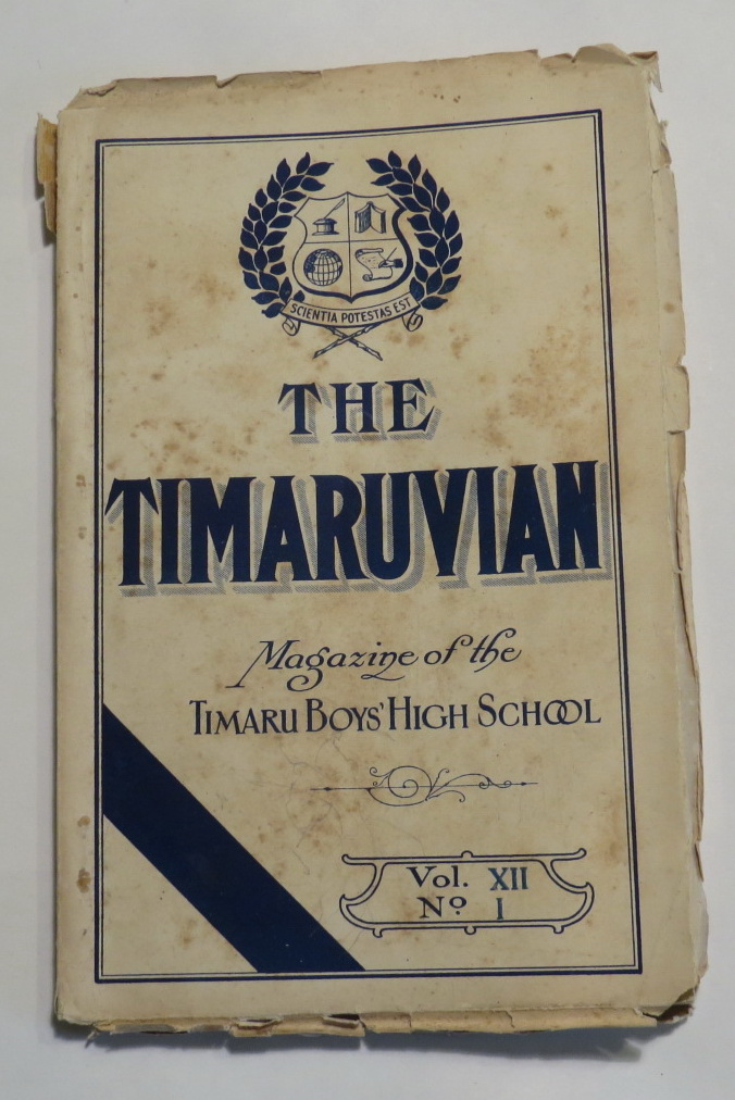 Image for The Timaruvian - The Magazine of the Timary Boys' High School - Vol. XII. No. 1 - December, 1917.