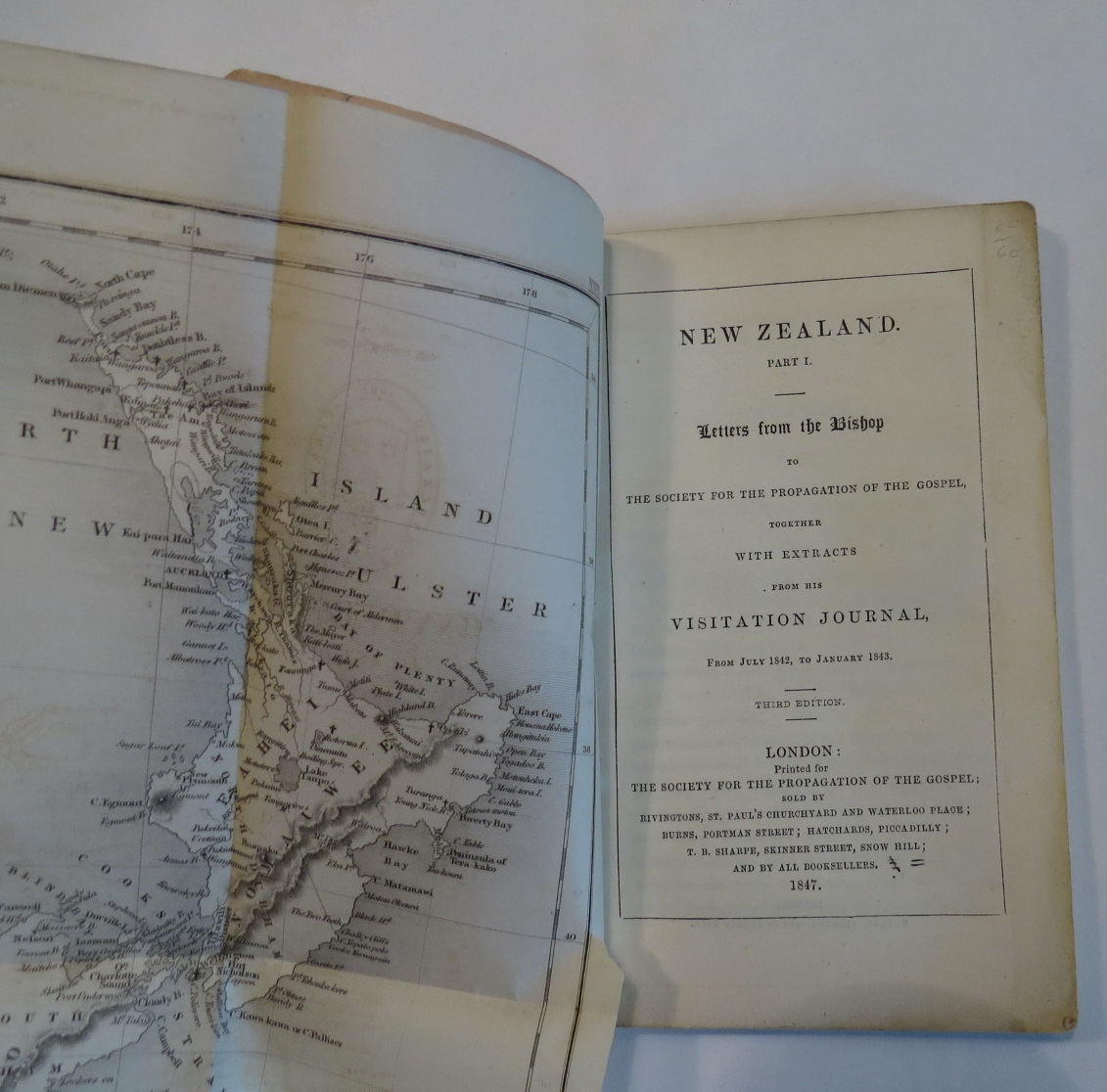 Image for New Zealand. Part I. Letters from the Bishop to the Society for the Propagation of the Gospel together with Extracts from his Visitation Journal, from July 1842, to January 1843.