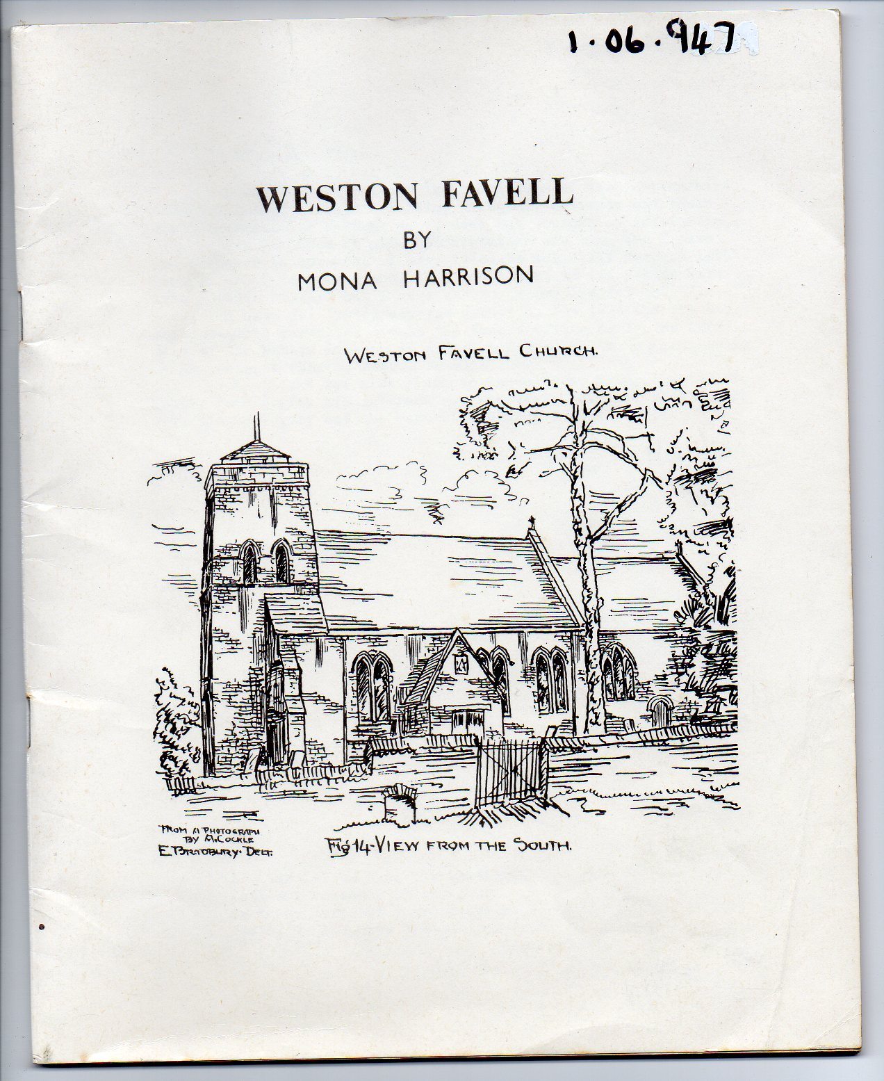 Image for The History of the Parish of Weston Favell