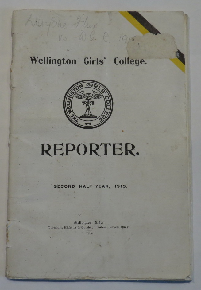 Image for Wellington Girls' College. Reporter. Second Half-Year, 1915