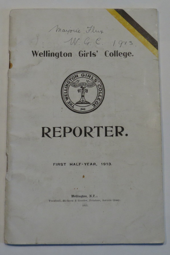 Image for Wellington Girls' College. Reporter. First Half-Year, 1913