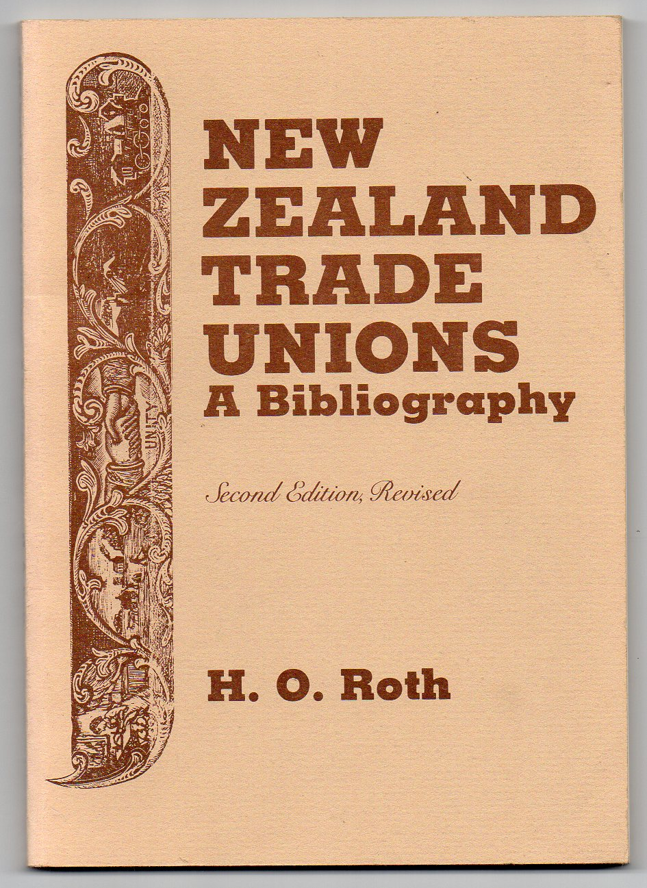 Image for New Zealand Trade Unions: A Bibliography