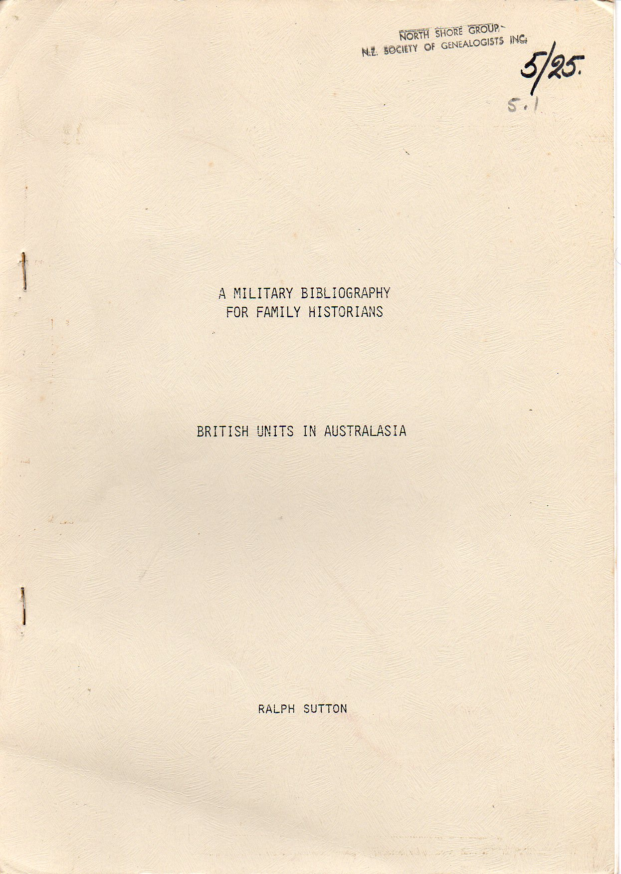 Image for British Units in Australasia - A Military Bibliography for Family Historians