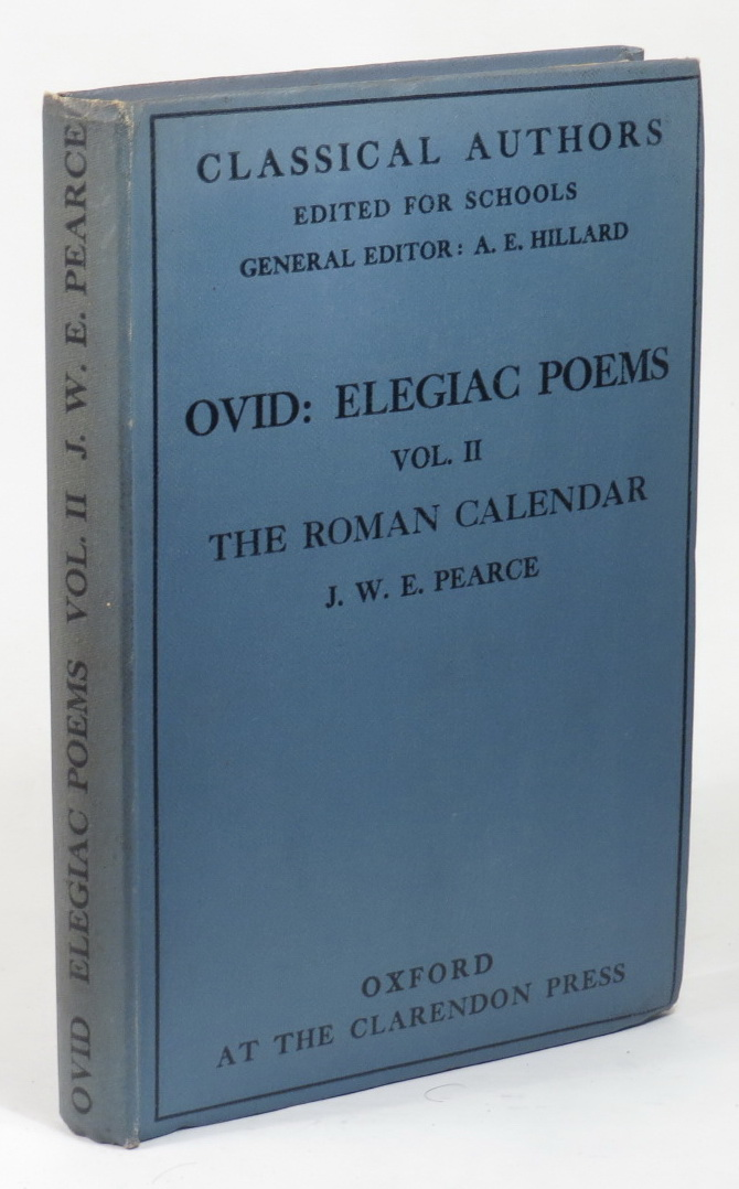 Image for Elegaic Poems of Ovid - Vol. II - The Roman Calendar - Selections from the Fasti