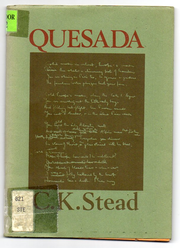 Image for Quesada - Poems: 1972-74