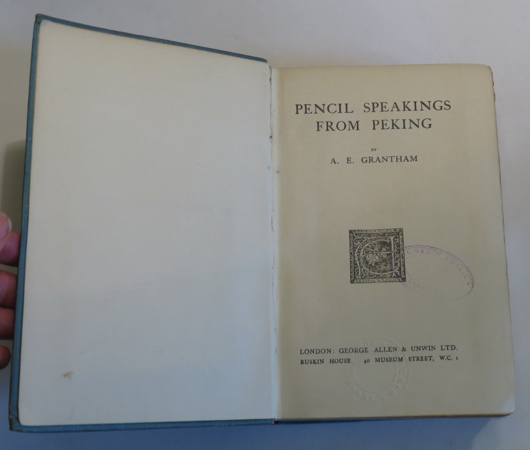 Image for Pencil Speakings From Peking