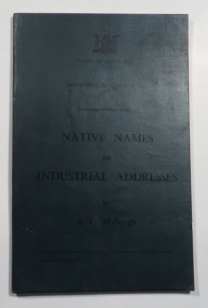 Image for Native Names of Industrial Addresses