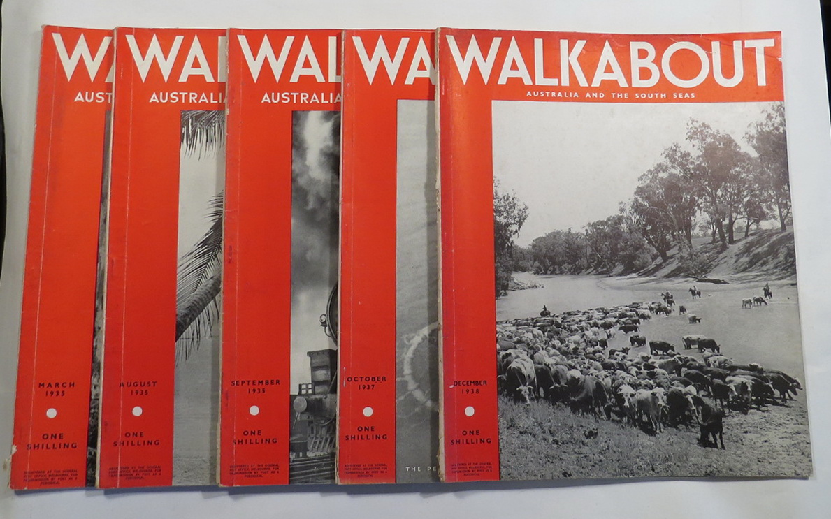 Image for Walkabout [5 issues, each with an article by Ion Idriess. Mar, Aug, Sep 1935, Oct 1937, Dec 1938.]