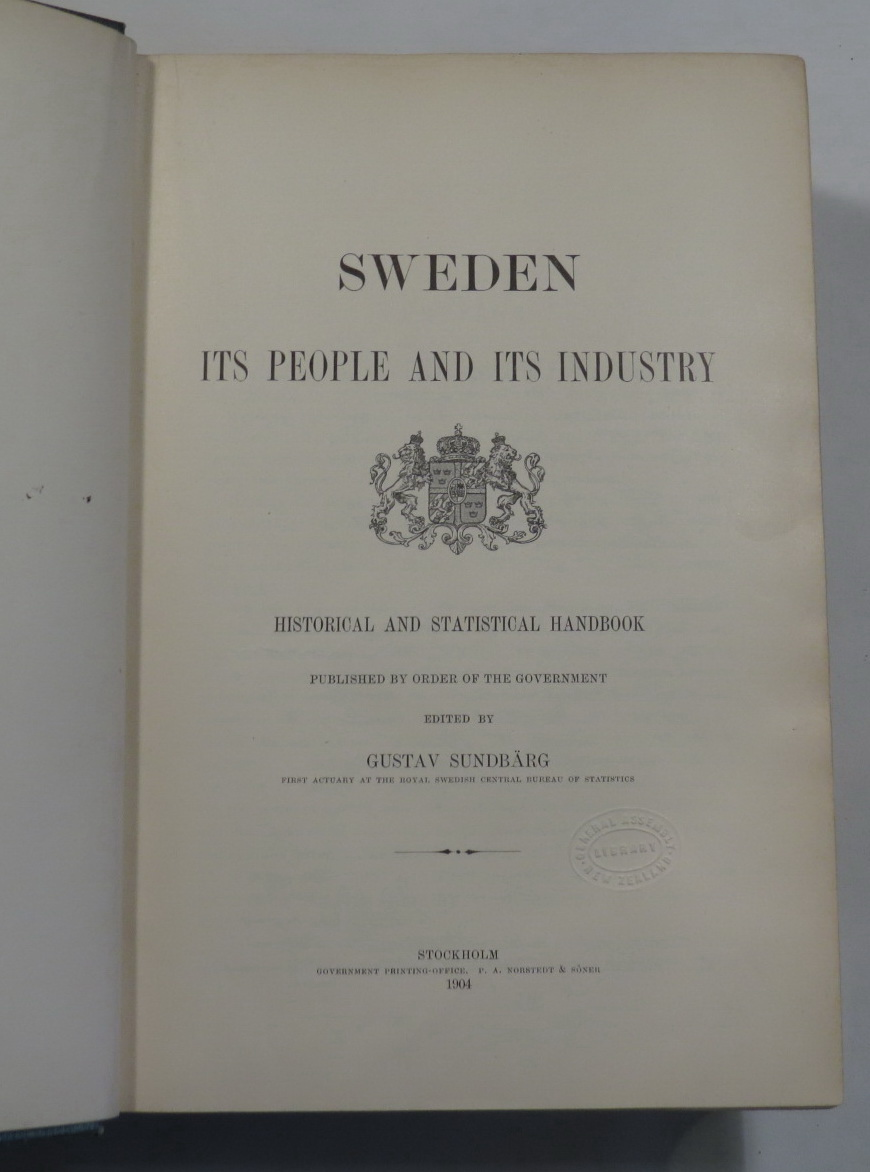 Image for Sweden - Its People and Its Industry - Historical and Statistical Handbook Published by Order of the Government