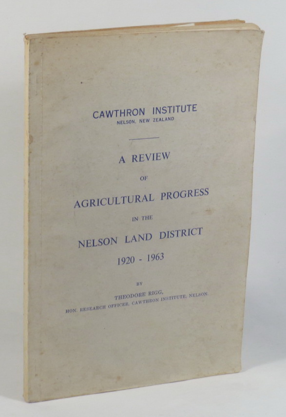 Image for A Review of the Agricultural Progress in the Nelson Land District 1920-1963
