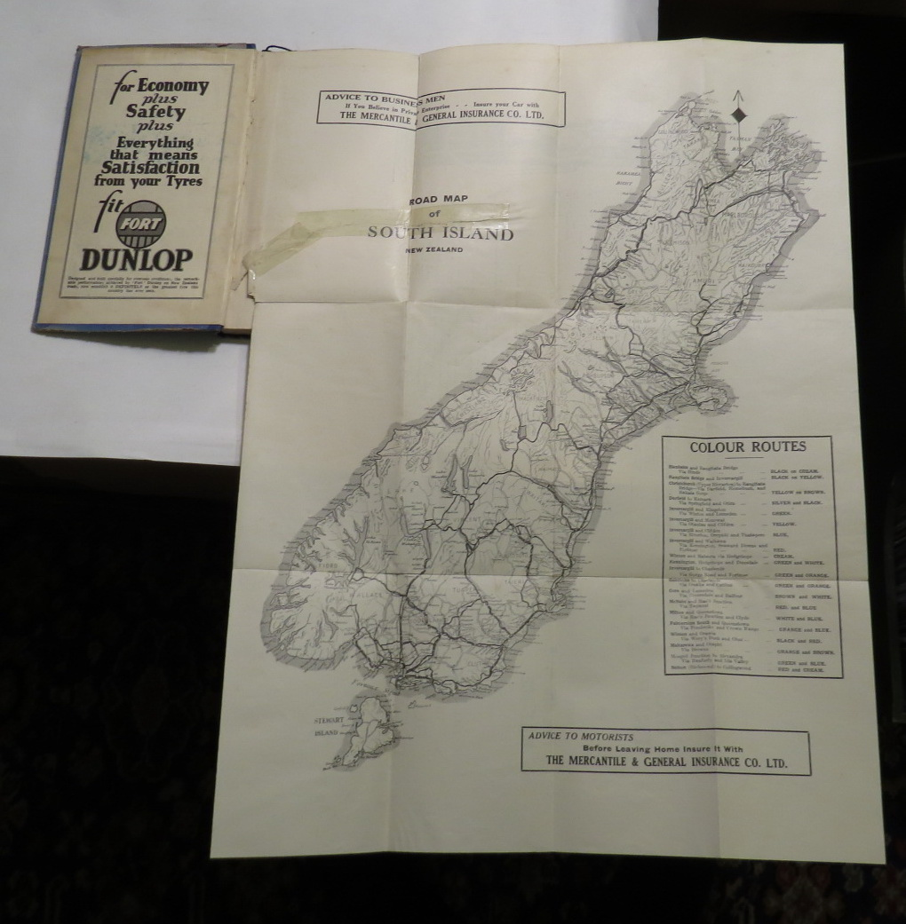 The New Zealand Motorists' Road Guide (South Island). Tenth Edition.