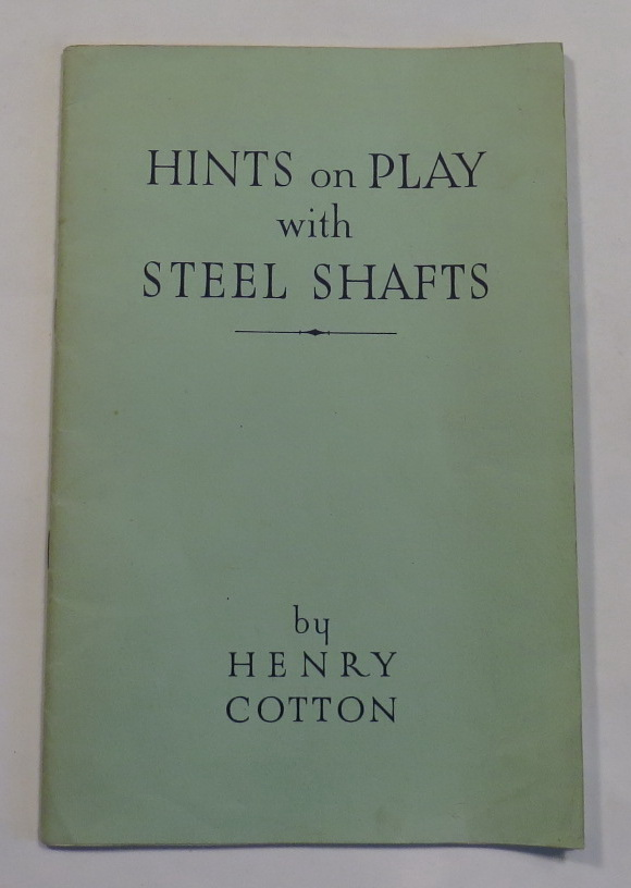 Image for Hints on Play with Steel Shafts