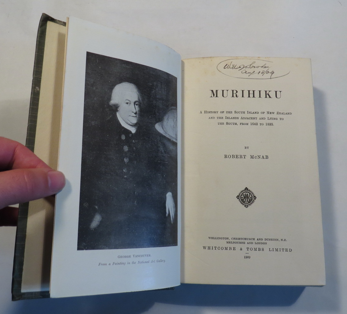 Image for Murihiku - A History of the South Island of New Zealand and the Islands Adjacent and Lying to the South, from 1642 to 1835.