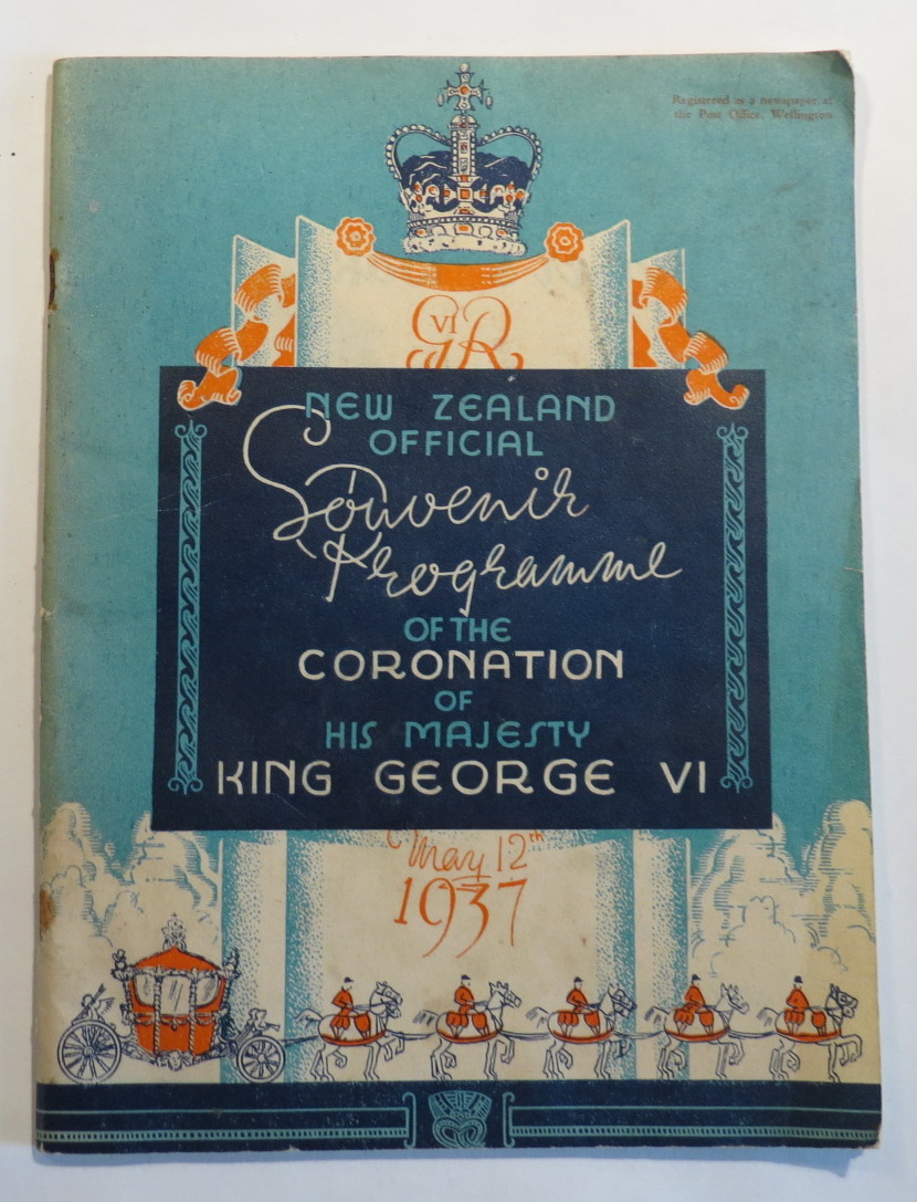 "Image for The New Zealand Book of the Coronation [Cover title: ""New Zealand Official Souvenir Programme of the Coronation of His Majesty King George VI - May 12th 1937""]"