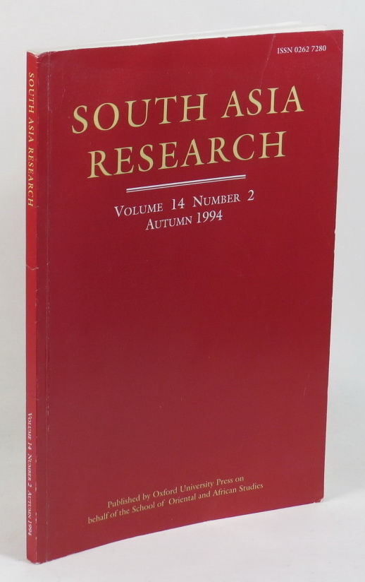 Image for South Asia Research - Vol. 14 No. 2 Autumn 1994