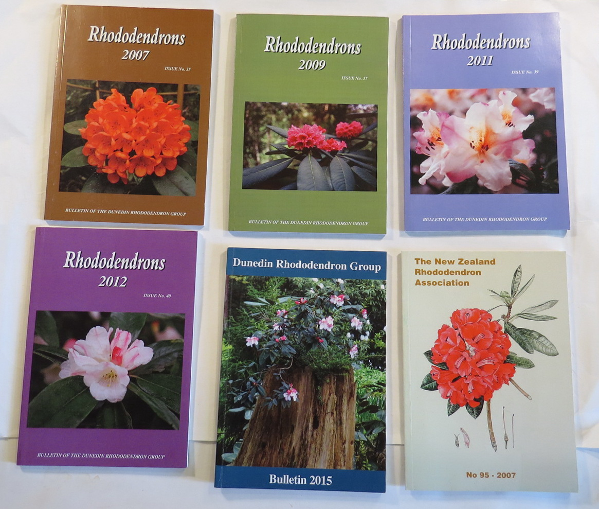 Image for Dunedin Rhododendron Group Bulletin Nos. 35, 37, 39, 40, & 43; 2007, 2009, 2011, 2012, 2015. [+ 1 other]