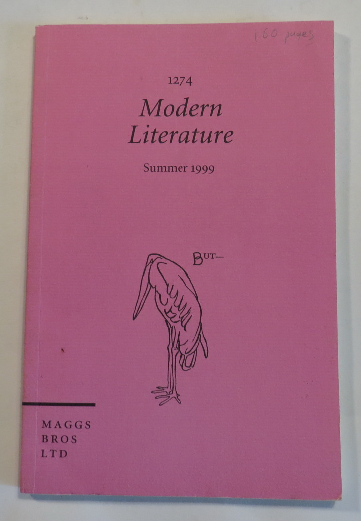Image for Maggs - Catalogue 1274 - Summer 1999 - Modern Literature