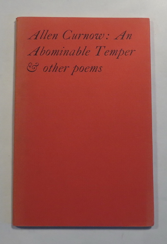 Image for An Abominable Temper and Other Poems