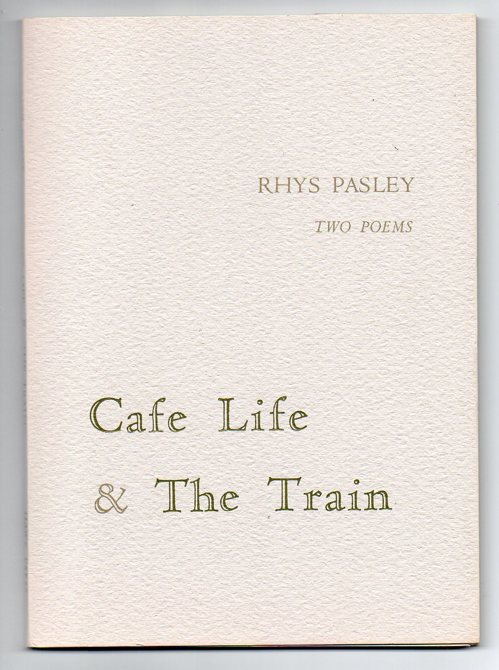 Image for Two Poems - Cafe Life & The Train