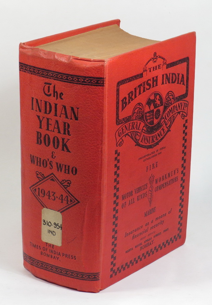 Image for The Indian Year Book 1943-44 - Volume XXX - A Statistical and Historical Annual of The Indian Empire, with an Explanation of the Principal Topics of the day