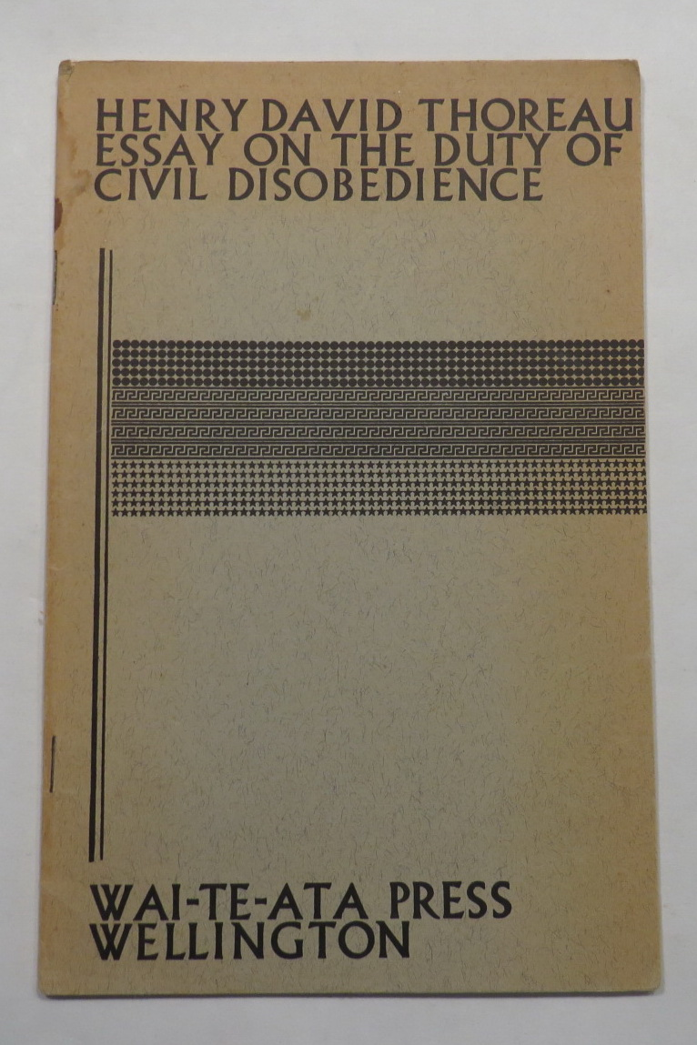 Image for Essay on the Duty of Civil Disobedience