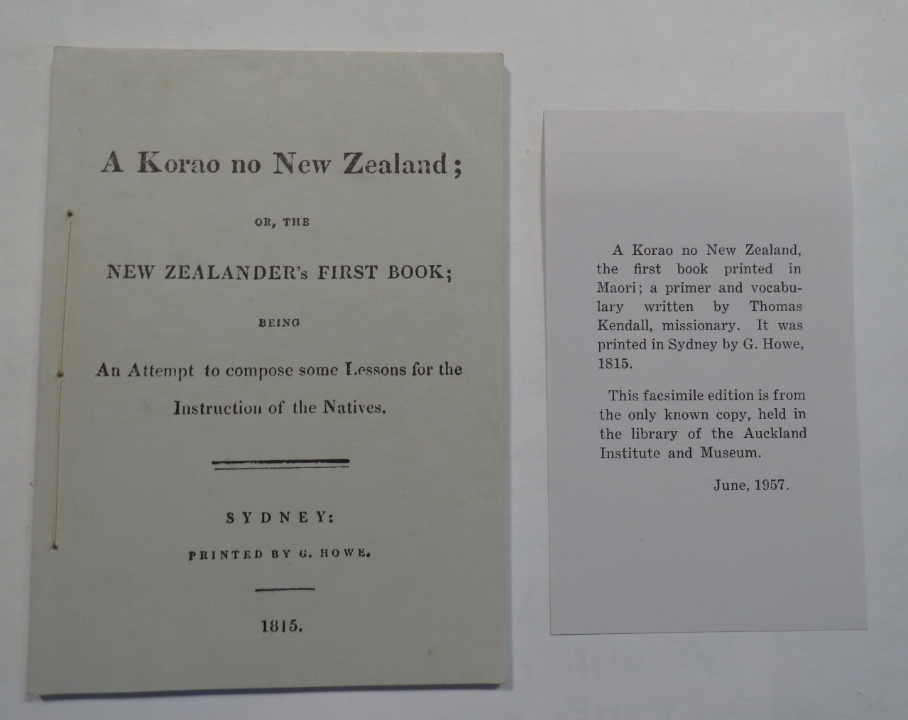 Image for A Korao no New Zealand; Or, The New Zealander's First Book; Being An Attempt To Compose Some Lessons For The Instruction Of The Natives