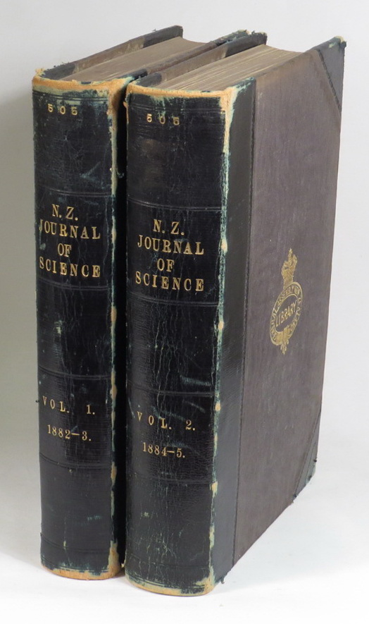 Image for The New Zealand Journal Of Science - Volume I. 1882-1883; Volume II. 1884-1885. [Two volumes] Devoted To The Furtherance Of Pure And Applied Science Throughout The Colony