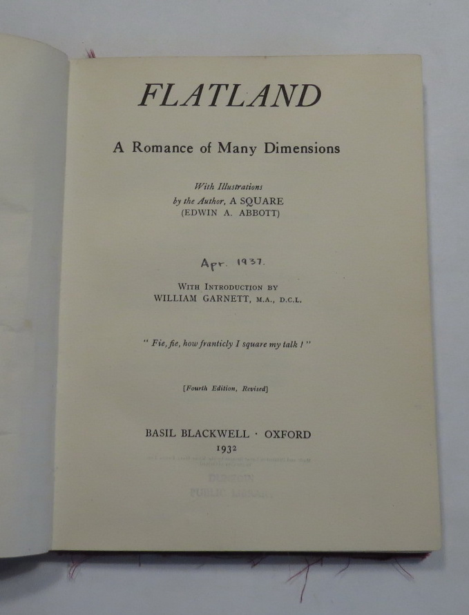 Image for Flatland - A Romance of Many Dimensions