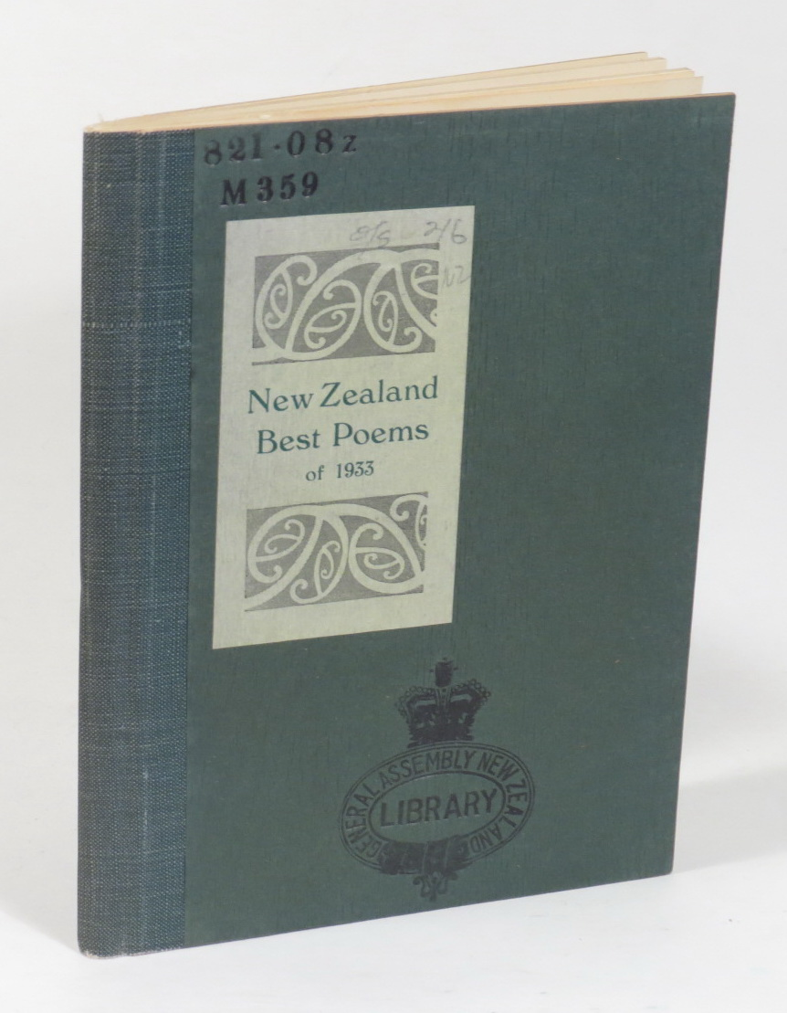 Image for New Zealand Best Poems of 1933 - Chosen by C. A. Marris