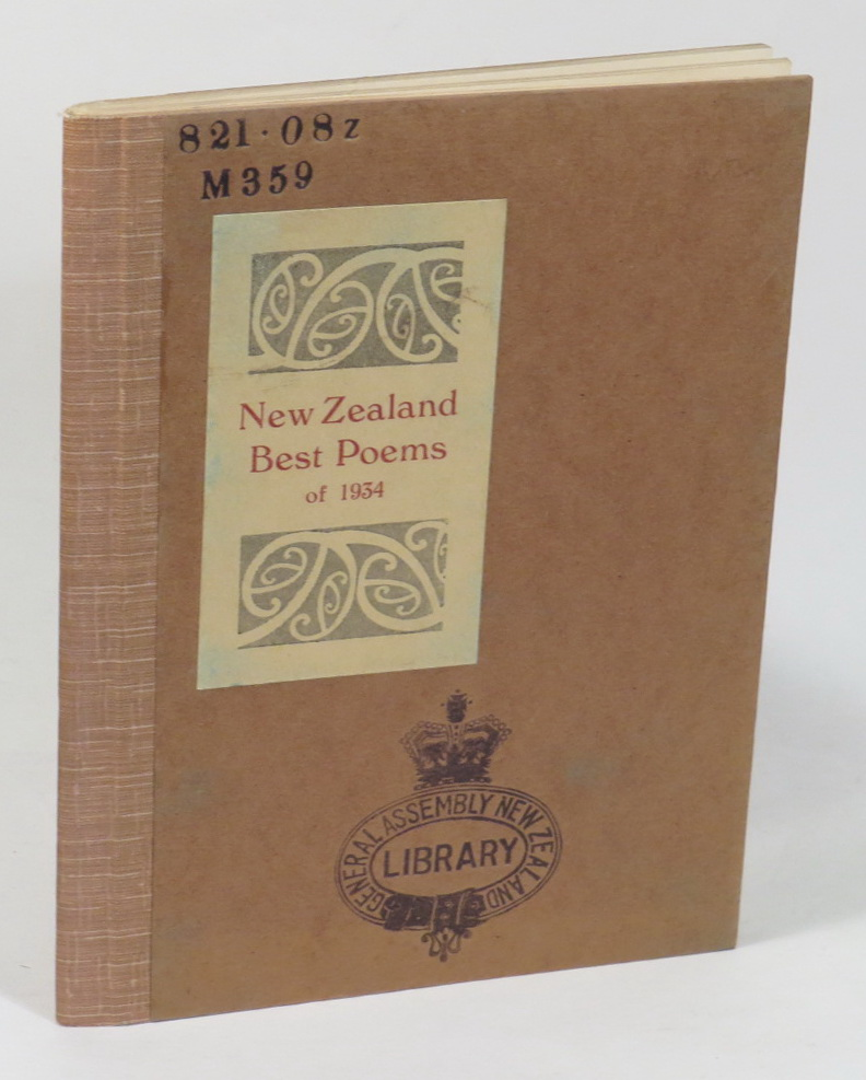 Image for New Zealand Best Poems of 1934 - Chosen by C. A. Marris