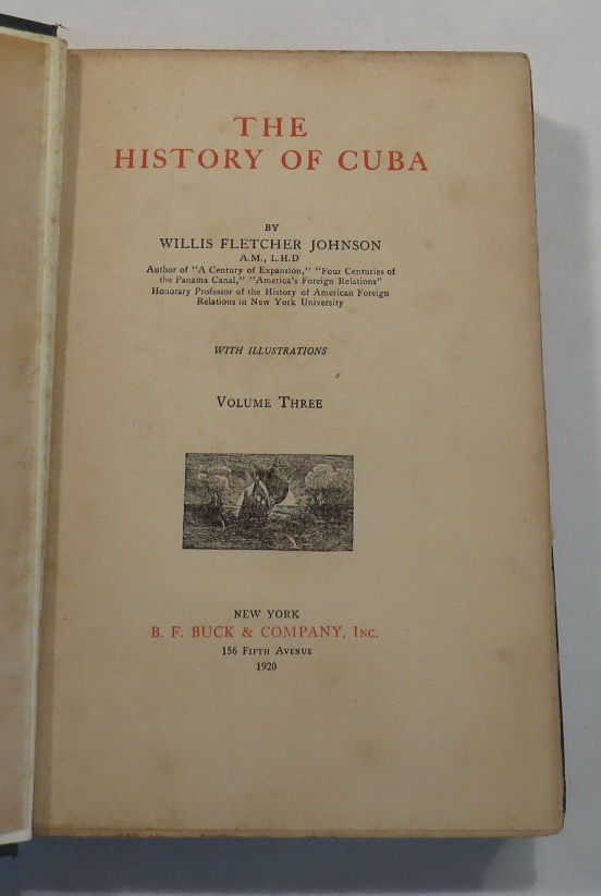 Image for The History of Cuba. Volume Three.