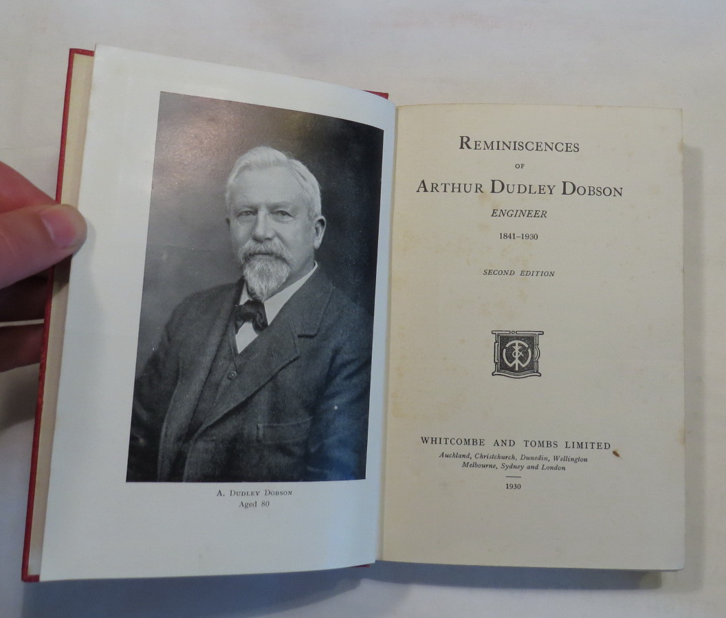Image for Reminiscences of Arthur Dudley Dobson - Engineer - 1841-1930
