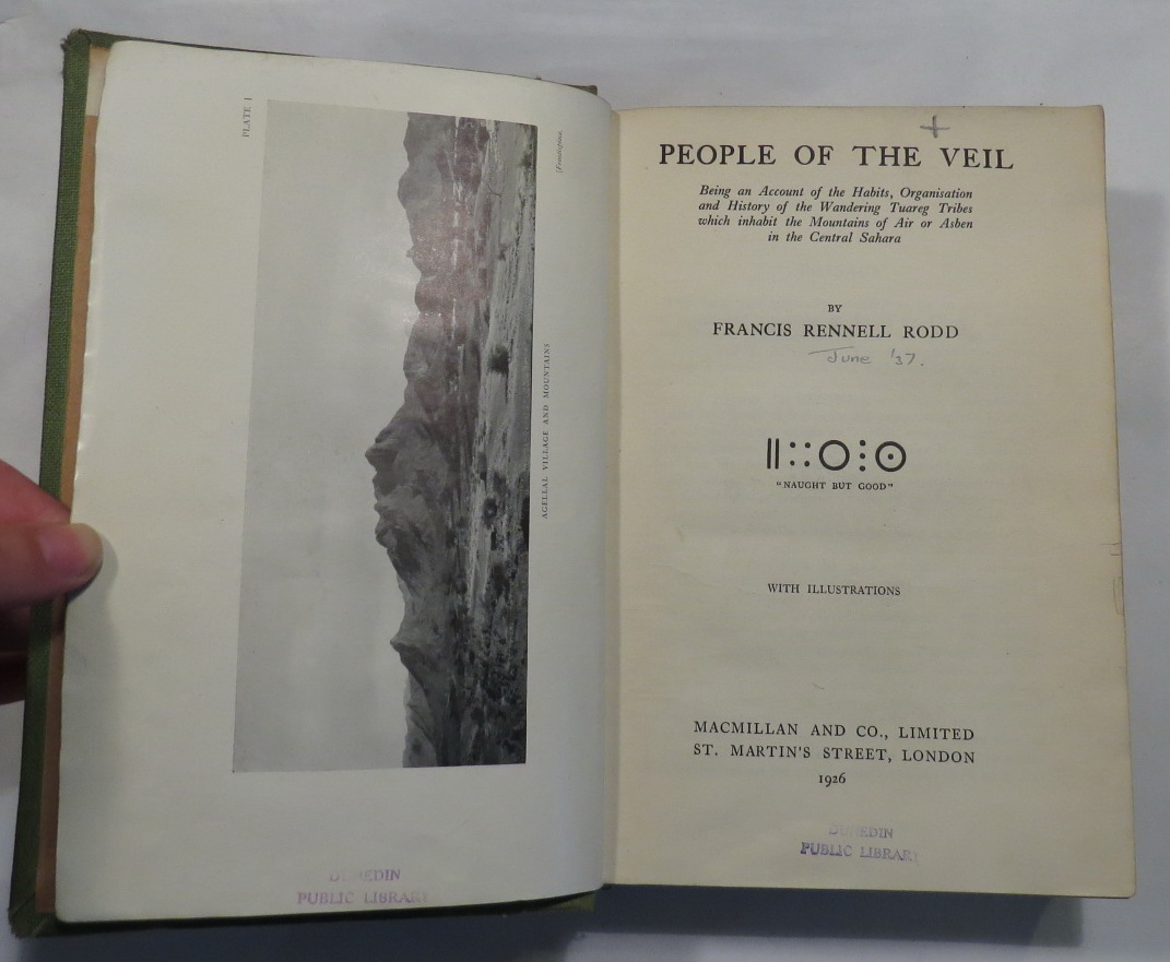 Image for People of the Veil - Being an Account of the Habits, Organisation and History of the Wandering Tuareg Tribes which inhabit the Mountains of Air or Asben in the Central Sahara