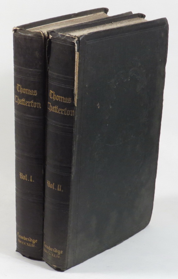 Image for The Poetical Works of Thomas Chatterton with Notes of his Life, History of the Rowley Controversy, A Selection of his Letters and Notes Critical and Explanatory [2 volumes]