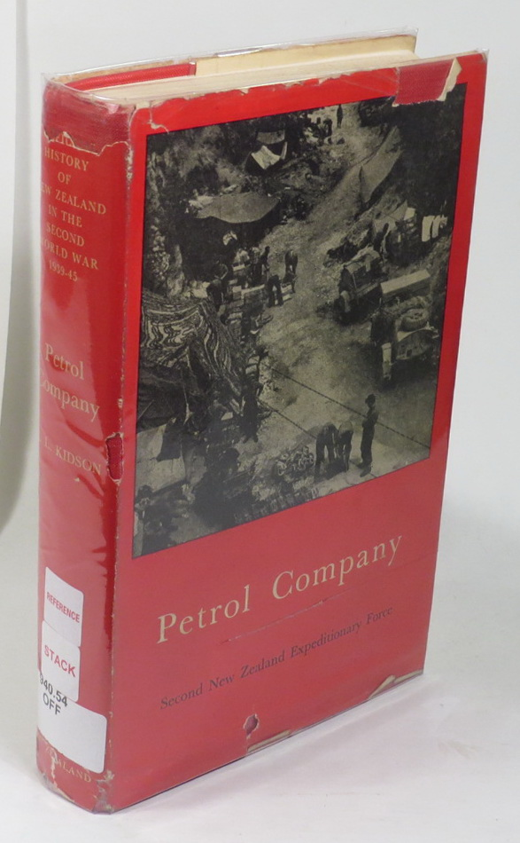 Image for Petrol Company [Series title: Official History of New Zealand in the Second World War 1939-45]