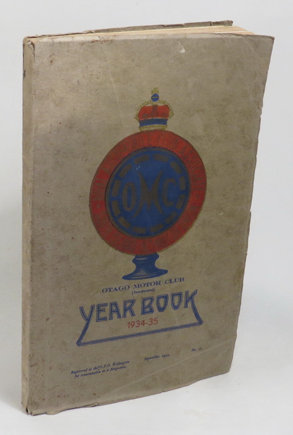 Image for Otago Motor Club Year [. . .] 1934-35 Year Book together with the Work of the Year for 1933-34