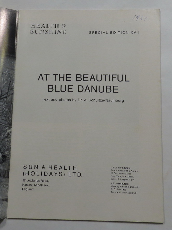 Image for At the Beautiful Blue Danube (Health & Sunshine. Special Edition XVII.)
