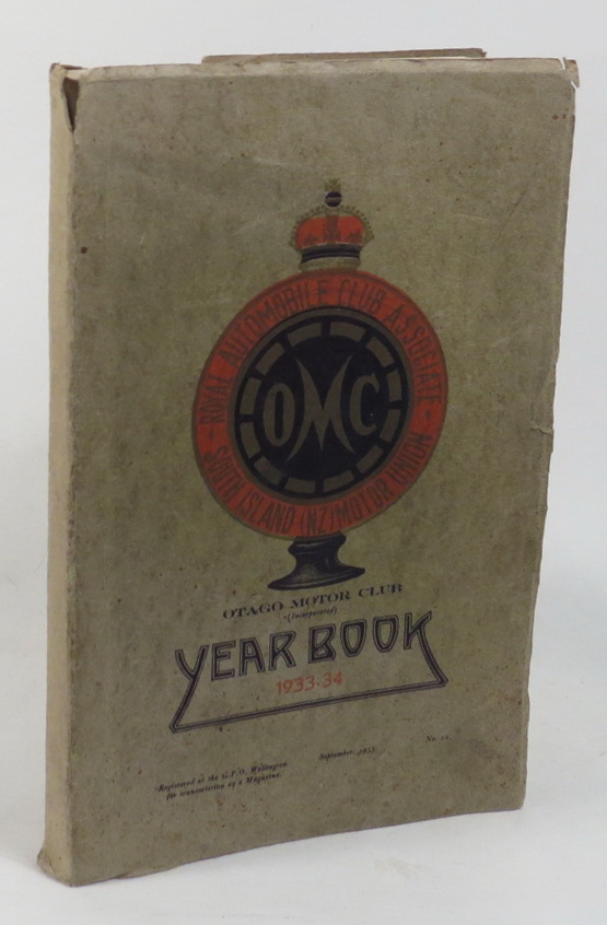 Image for Otago Motor Club Year [. . .] 1933-34 Year Book together with the Work of the Year for 1932-33
