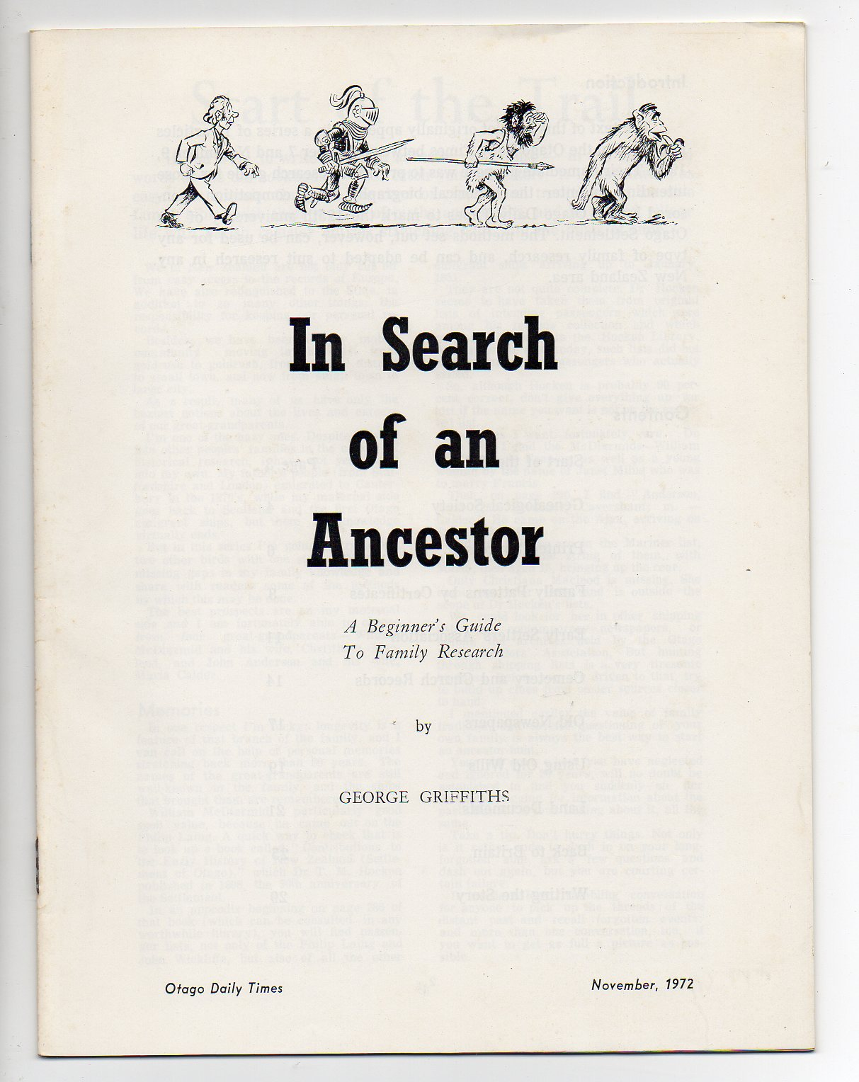 Image for In Seach of an Ancestor - A Beginner's Guide to Family Research