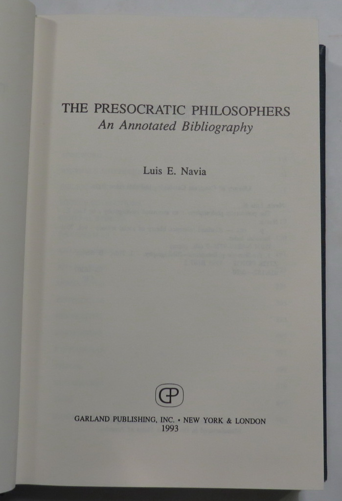 Image for The Presocratic Philosophers - An Annotated Bibliography