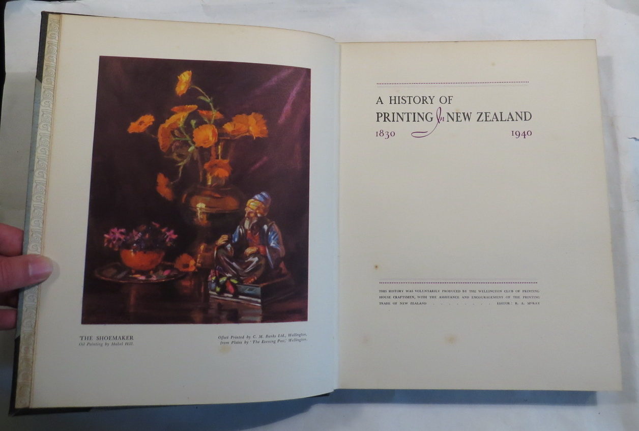 Image for A History of Printing in New Zealand: 1830 1940